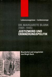 Book coverDr. Margarete Blank (1901–1945)